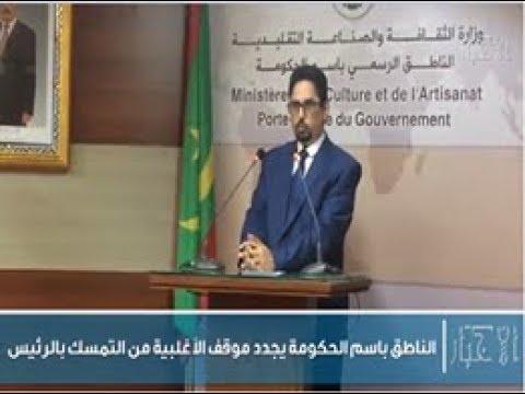الناطق باسم الحكومة يجدد موقف الأغلبية من التمسك بالرئيس - الأخبار إينفو