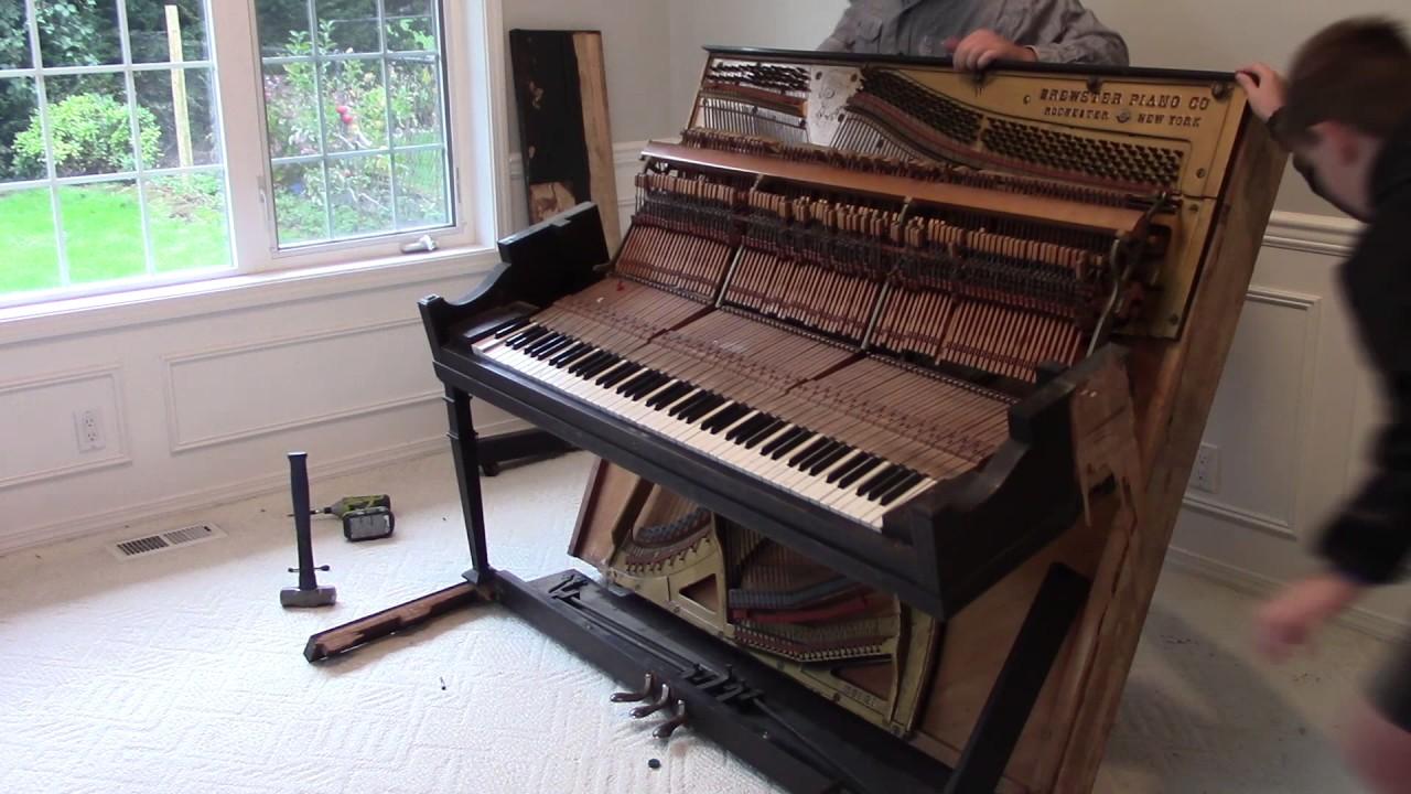 How to Take Apart a Piano - YouTube