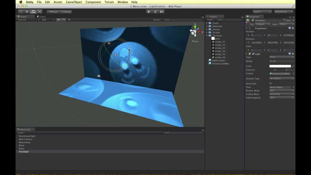 Unity 3D - Realistic Light Projections with Cookies