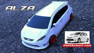 Making Produa Alza Paper Car | Alza Stance | Paper Replika