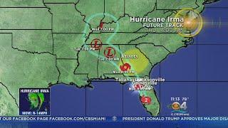 Tracking Hurricane Irma and Hurricnae Jose 9-10-17 11PM