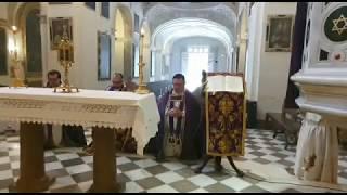 Eucaristía en la Abadía del Sacromonte ante la epidemia del Covid-19