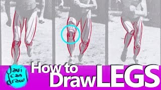 HOW TO DRAW KNEES