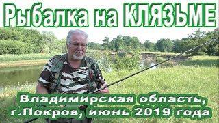 Рыбалка на Клязьме во Владимирской области в июне 2019 г.