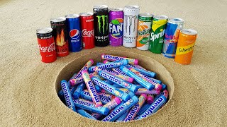 Coca Cola, Fanta, Monster, Pepsi, Schweppes, Burn, Yedigün, Sprite and Mentos Underground