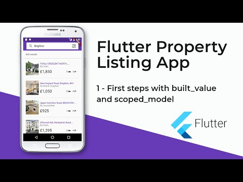 Flutter Property Listing App (1 - First steps with built value and scoped model)