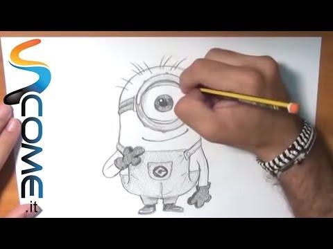 Come Imparare A Disegnare I Minions Di Gru Cattivissimo Me Youtube