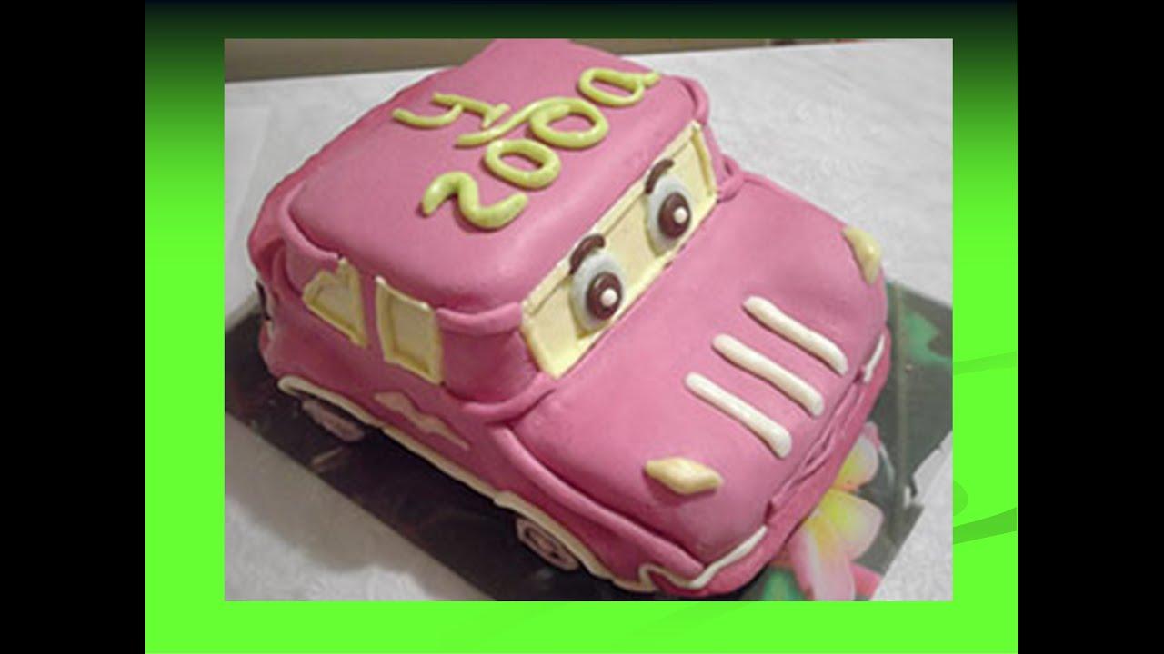 как приготовить торт машинку из мастики видео