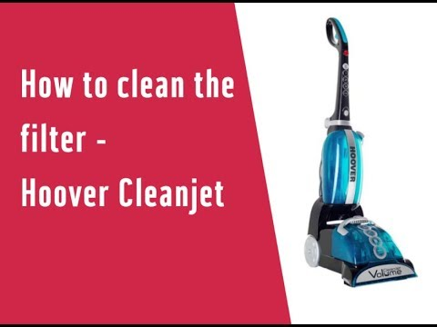 How to clean the filter - Hoover Cleanjet CJ625 (3572889)