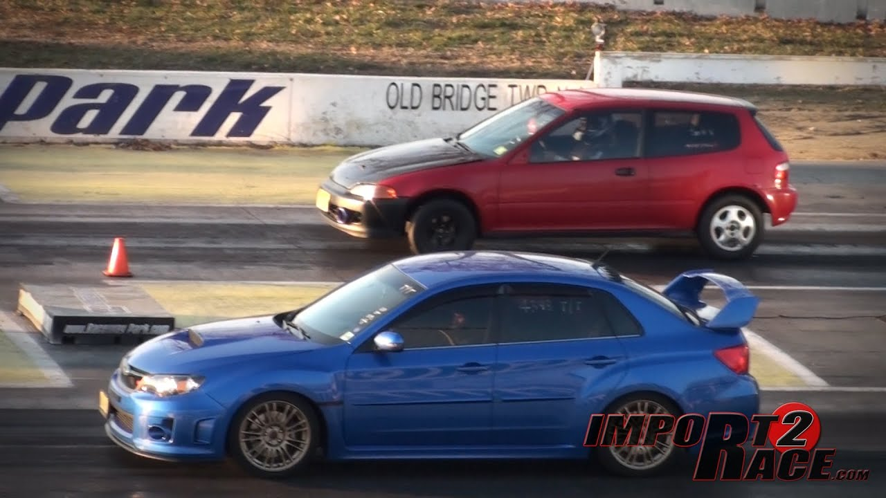 Turbo Civic vs Subaru Sti  YouTube