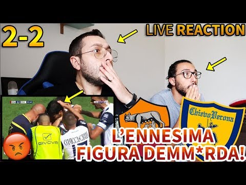 L'ENNESIMA FIGURA DEMM*RDA!!!! Roma-Chievo Verona 2-2 [LIVE REACTION]