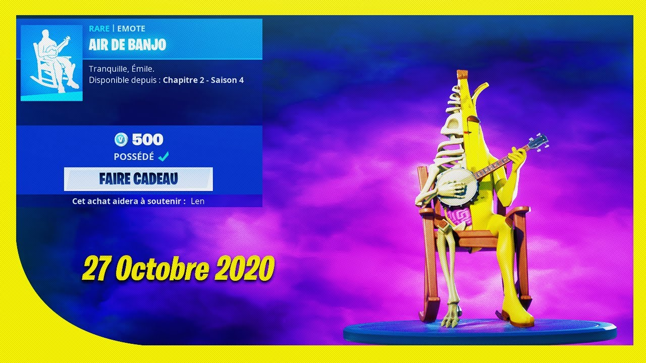 BOUTIQUE FORTNITE du 27 Octobre 2020 ! ITEM SHOP October 27 2020 !