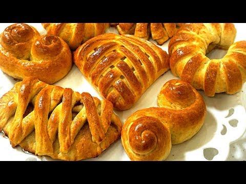 Как сделать красивые булочки с повидлом из дрожжевого теста