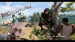 Mordhau with ninjas hidden in the trees