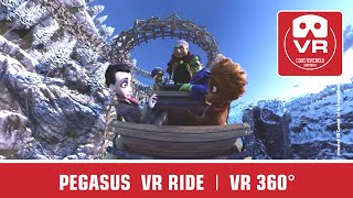 360° Pegasus VR Happy Family   VR Roller Coaster 360   onride POV Europa Park - virtual reality