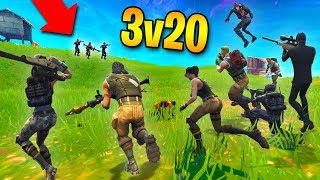 ABSOLUTELY INSANE 3v20 COMEBACK! | Fortnite Battle Royale