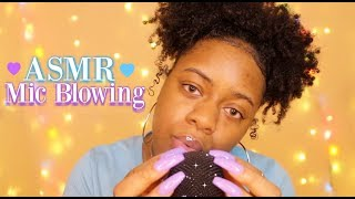 ASMR   Mic Blowing & Hand Movements + Close Whispers ♡   (Spine Melting Tingles) ~