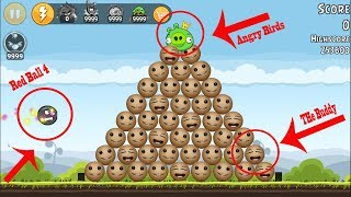 9999 Red Ball 4 Vs 9999 Kick the Buddy | Red Ball 4 Kick The Buddy in Angry Birds