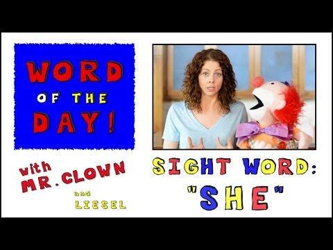 "Mr. Clown's Word of the Day: Sight Word ""She"""