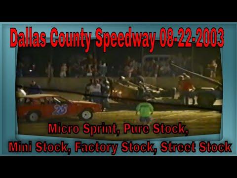 Dallas County Speedway 08-22-2003 Micro Sprint, Pure Stock, Mini Stock, Factory Stock, Street Stock