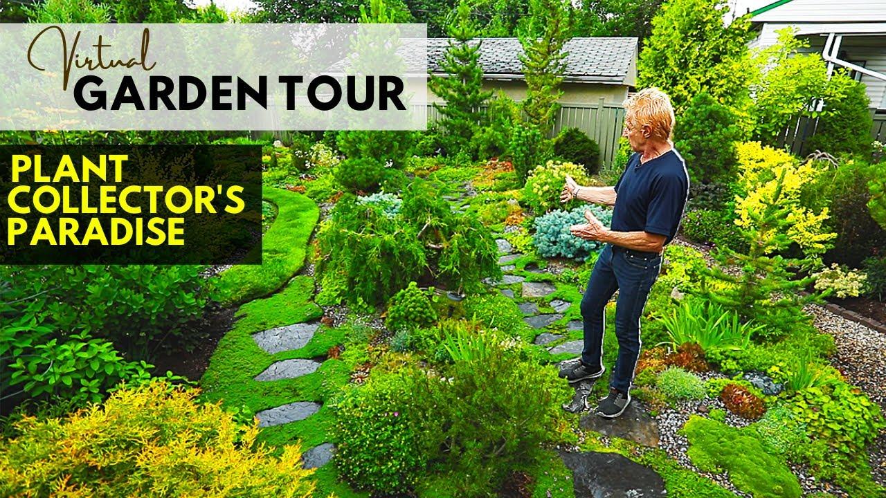 Virtual Garden Tour A Collector S Paradise Alberta Tours Garden Tours Garden Unique Gardens Backyard garden tour youtube