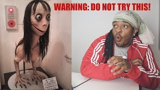 THE MOMO CHALLENGE REACTION - *DO NOT TRY THIS!*