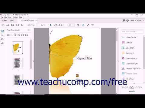 Change Page Numbers in Acrobat - Instructions and Video Lesson