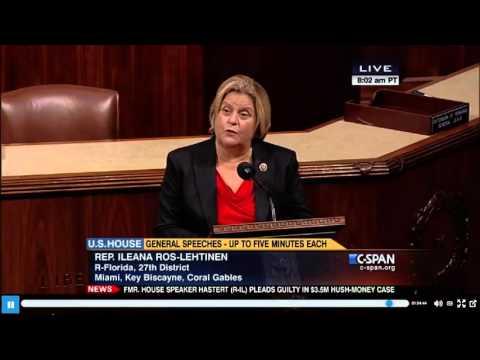 Rep. Ileana Ros-Lehtinen Blasts UNRWA, Praises UN Watch for Exposing Antisemitic Incitement
