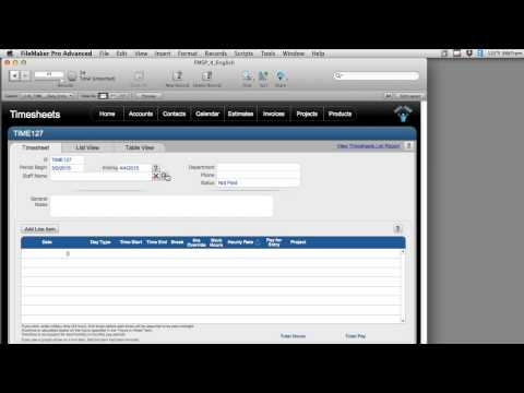 Staff - Personnel Time Entry - Logging Time in FileMaker | FileMaker Videos