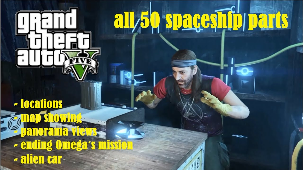 Gta V  Spaceship Parts Location Guide Map Ending Full Hd Youtube