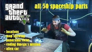 GTA V 5 All 50 Spaceship Parts Location Guide + Map + Ending FULL HD