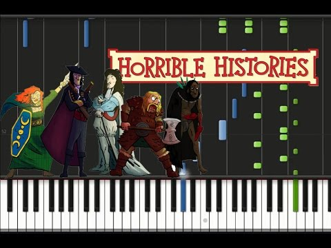 Horrible Histories - Theme Song Synthesia Tutorial