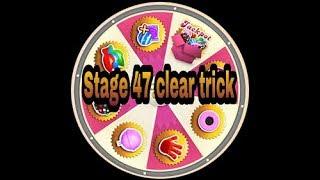 Candy crush saga level 47 clear trick