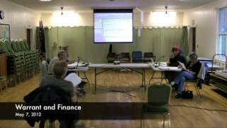 Warrant and Finance - 05-07-2012