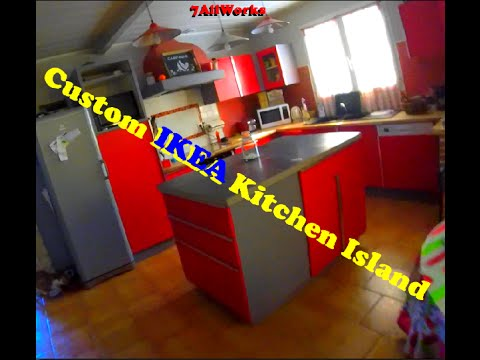 37 Custom Ikea Kitchen Island Ilot De Cuisine Ikea Modifie Youtube