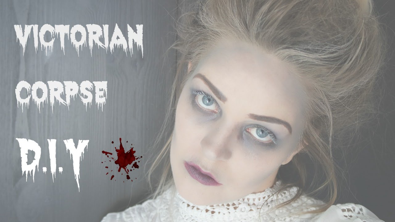 halloween - victorian corpse hair and makeup - youtube