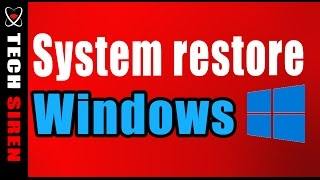 How to create a restore point in windows 10