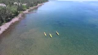 Lake Superior Kayak Trip at Larsmont Cottages- Two Harbors