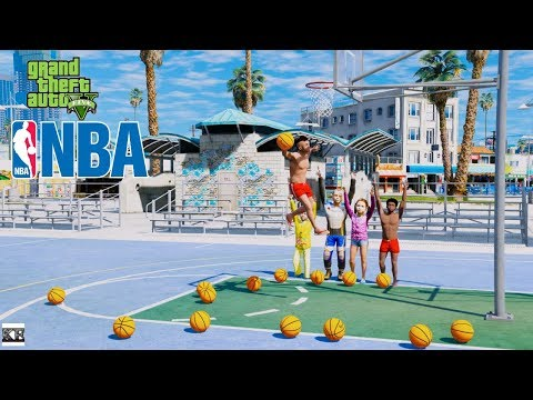 GTA 5 KIDS REAL LIFE SPORTS MOD #1 BASKETBALL