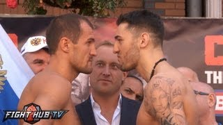 Nathan Cleverly vs. Sergey Kovalev: Full weigh in (Full HD)