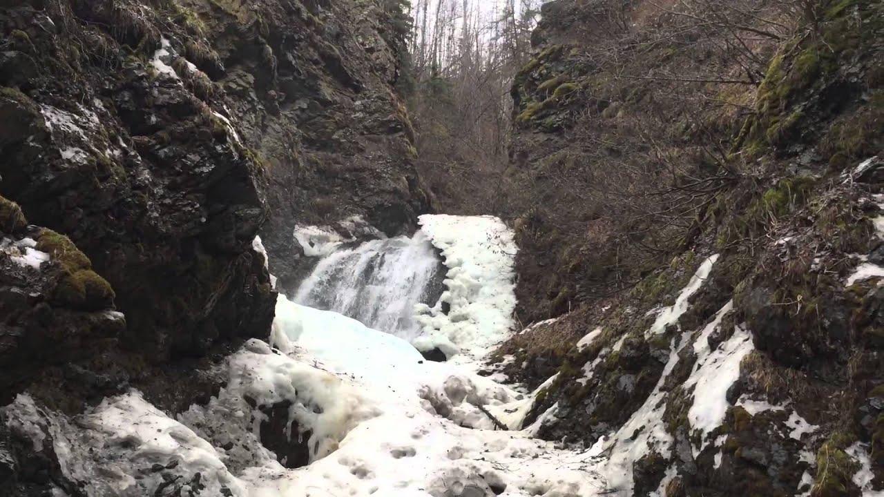 Alaskan Waterfall in Spring