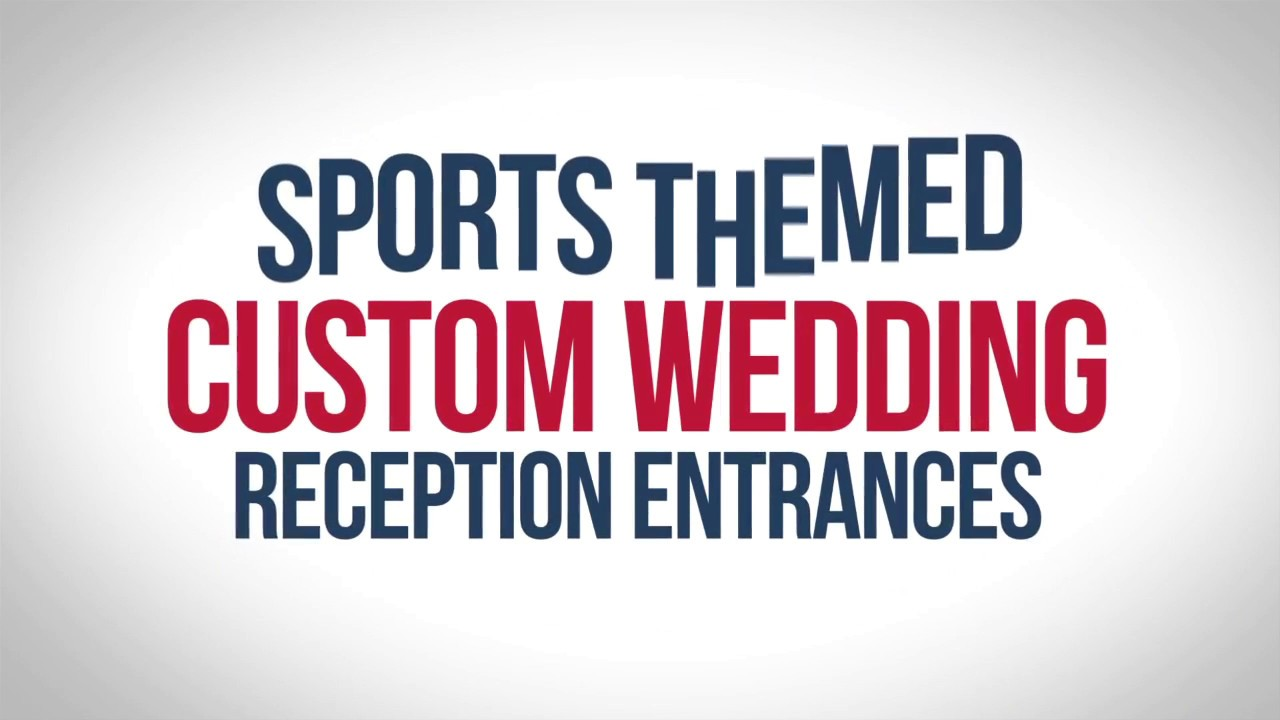 Coolest Sports Themed Wedding Entrances - Order Yours Today! - YouTube