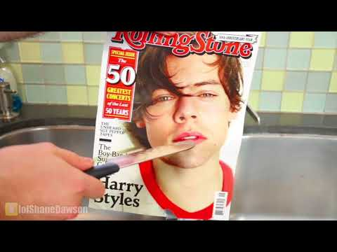 Shane Dawson cutting into Harry Styles while playing Sign of the Times