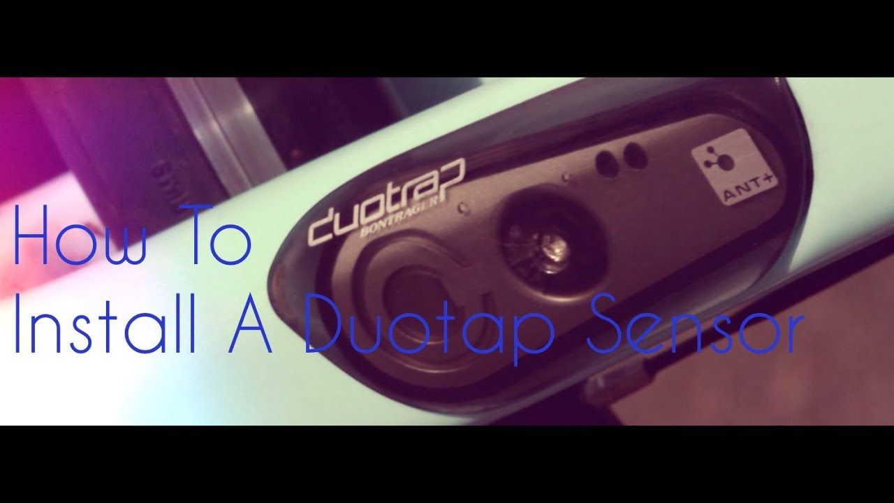 How To Install A Duotrap Sensor On A Road Bike Youtube