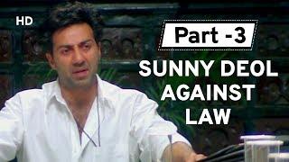 Sunny Deol & Police Talks [Part 3] Salaakhen | Amrish Puri | Raveena | Anupam Kher | Action Movie