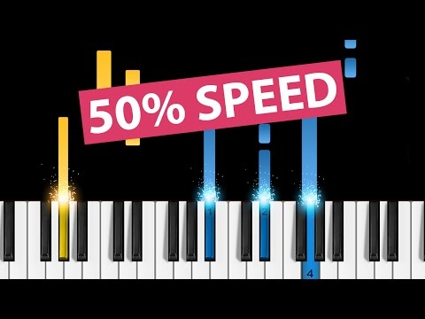 How to Play Lean On Me on Piano - 50% Speed