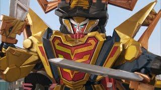 Claw Armor Megazord Debut Fight (Power Rangers Super Samurai)