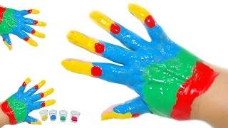 Impara i colori con il Body Paint per ragazzi! Colori Arcobaleno! Giochi per bambini!