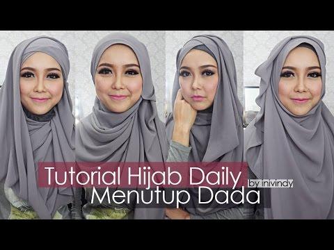 Tutorial Hijab Sehari Hari Hijabstyle Menutup Dada By Inivindy Youtube