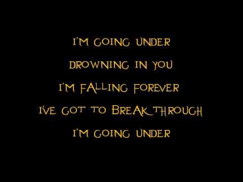 Evanescence- Going Under (Acoustic) (Lyrics)
